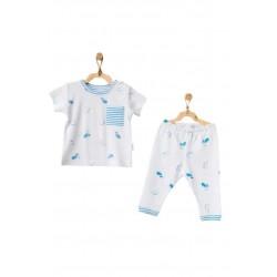 Andy Wawa AC21553 Bebek Pijama Takım Cute Whale