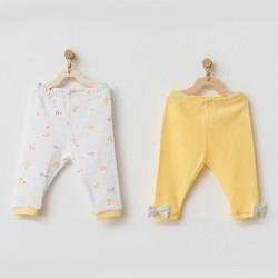 Andywawa AC21585 Bebek Pantolon 2 Pcs Pant Happy Chıcky