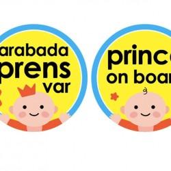 Babyjem 094 Araba Cam Yazısı Arabada Prens Var