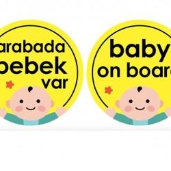 Babyjem 094 Araba Cam Yazısı Dikkat Bebek Var
