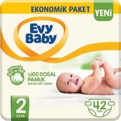 Evy Baby No:2 Mini Ekonomik Paket Bebek Bezi 42 Li 3-6 Kg