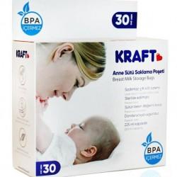Kraft 008 Yeni Süt Saklama Poşeti 225 Ml 30 Lu