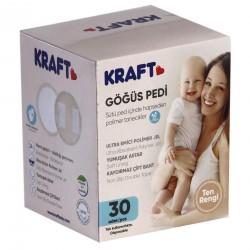Kraft 110/30 Yeni Göğüs Pedi Ten Rengi 30 Lu