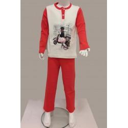 Little Bee 2001 Şehirler İnterlok Pijama Takım