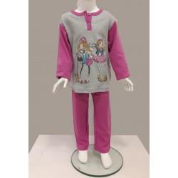 Little Bee 2002 Çantalı Kızlar İnterlok Pijama Takım