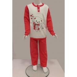 Little Bee 2004 Kanatlı Ayıcık Kız İnterlok Pijama Takım