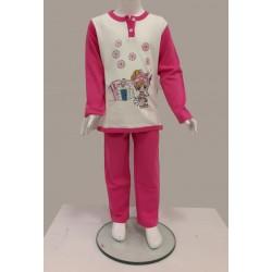 Little Bee 2005 Köpekli Kız İnterlok Pijama Takım