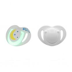 Mamajoo Silikon Ortodontik İkili Emzik Gece - Gündüz / 12 ay +