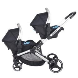 Prego 2071 İbiza Pro Travel İkiz Bebek Arabası Siyah