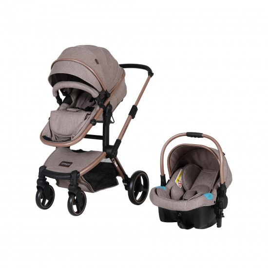 Prego 2087 Quattro Pro Travel Sistem Bebek Arabası Bej