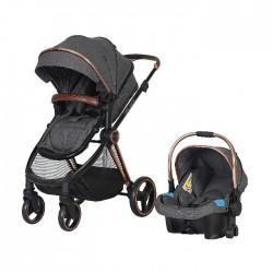 Prego 2098 Macan Travel Sistem Bebek Arabası Gri