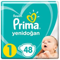 Prima Aktif Baby No:1 Yenidoğan Standart Paket Bebek Bezi 2-5 Kg 48 Li