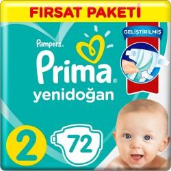 Prima Aktif Baby No:2 Mini Fırsat Paket Bebek Bezi 4-8 Kg 72 Li