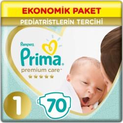 Prima Premium Care No:1 Yenidoğan Ekonomik Paket Bebek Bezi 2-5 Kg 70 Li