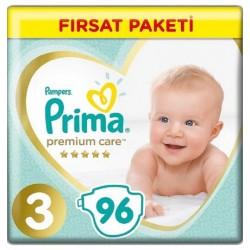Prima Premium Care No:3 Midi Fırsat Paketi Bebek Bezi 6-10 Kg 96 Lı