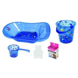 Sevi Bebe 137 Şeffaf Desenli Bebek Banyo Seti ( 5 Parça)