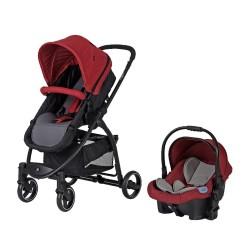 Sunny Baby 9021 Ryan Travel Sistem Bebek Arabası Kırmızı