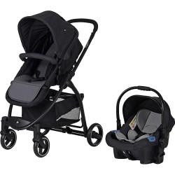 Sunny Baby 9021 Ryan Travel Sistem Bebek Arabası Siyah