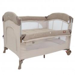 Uni Baby 2060 Alfa Anne Yanı Sallanır Cibinlikli Oyun Parkı Bebek Beşik 70x110 cm